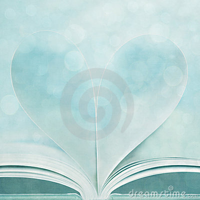 Stock Photo: I Heart Books with Bokeh Texture