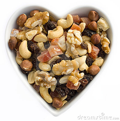Free I Heart Fruits And Nuts Royalty Free Stock Photography - 11832577