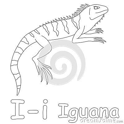I For Iguana Coloring Page Stock Illustration - Image: 39701651
