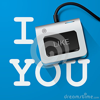 I like you with Keyboard key