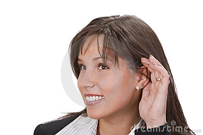 I Am Listening Stock Photography - Image: 3643952