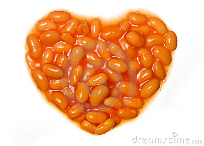 I Love Baked Beans Royalty Free Stock Images