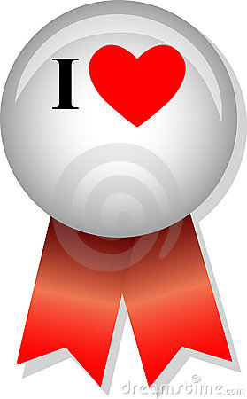 Free I Love Blank Button/eps Stock Images - 5731234