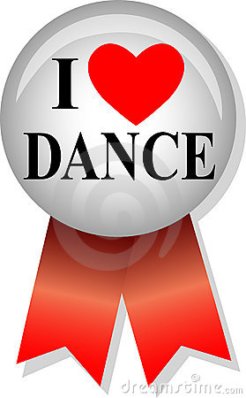 I Love Dance Button/eps