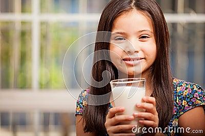 I love drinking milk