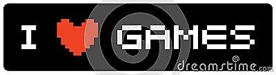 I love games label