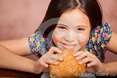 I love hamburgers!
