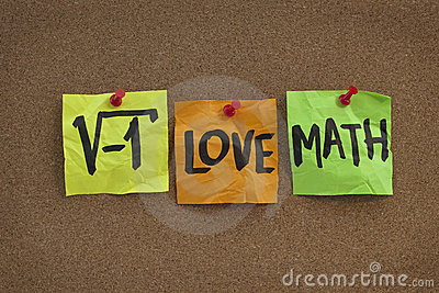 I love math - concept on bulletin board