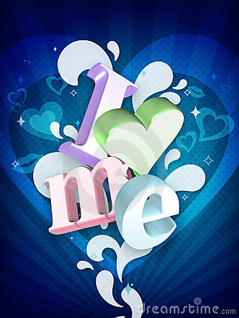I Love Me Illustration