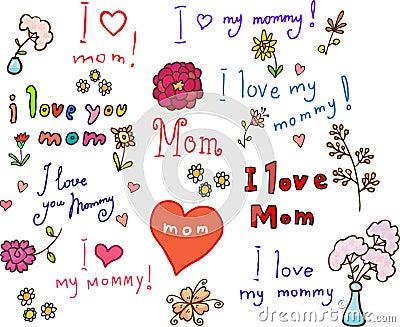 I love mom! set