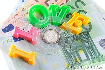 I love money - euro