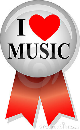 I Love Music Button/eps