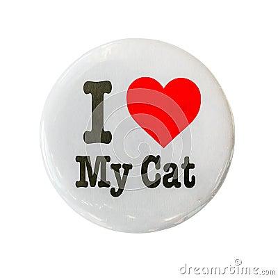 Free I Love My Cat Badge Royalty Free Stock Photos - 98536608
