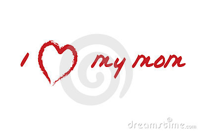 Love My Mom Card Royalty Free Stock Photography - Image: 2212297