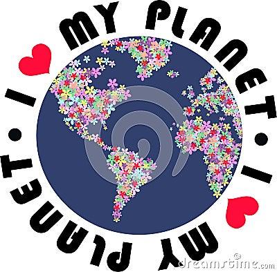 Free I Love My Planet Stock Image - 16800201