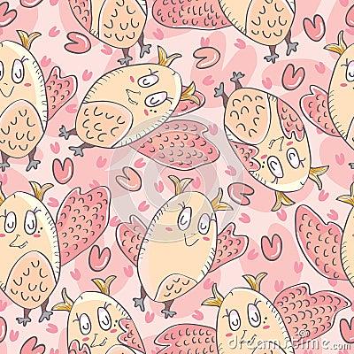 I Love Owl Seamless Pattern_eps