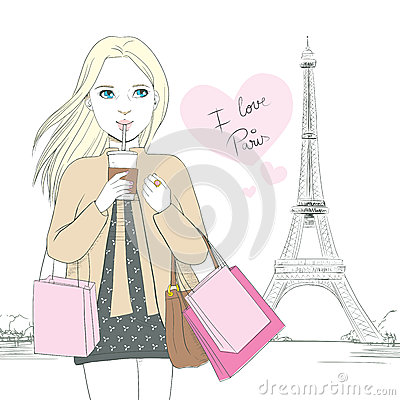 i-love-paris-girl-attractive-blonde-woman-drinking-coffee-front-eiffel-tower-pink-heart-text-saying-40579090
