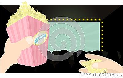 I love popcorn and movie