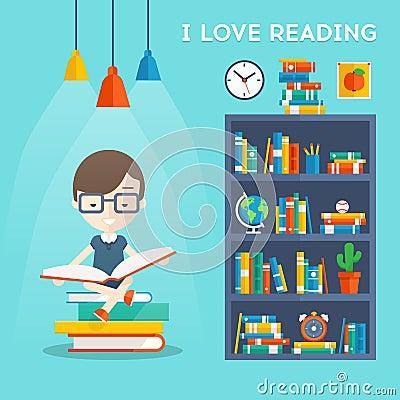 Free I Love Reading Concept Royalty Free Stock Photos - 62657258