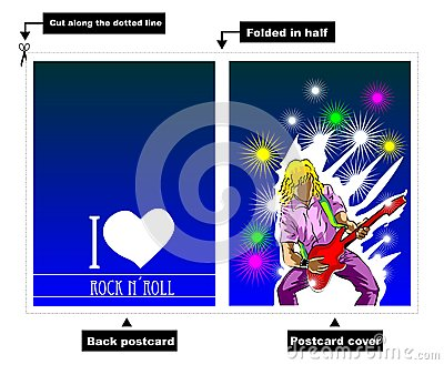 I Love Rock card