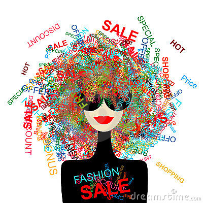 I love sale! Fashion woman with shopping concept
