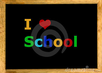 I Love School Royalty Free Stock Photo - Image: 16065665