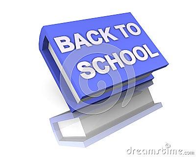 I love school back to school blue big book 3d