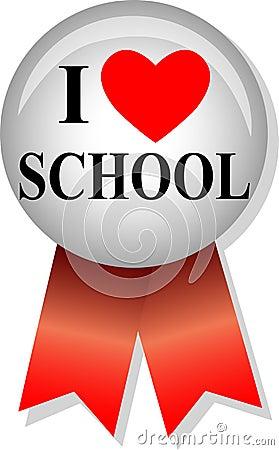 I Love School Button/eps