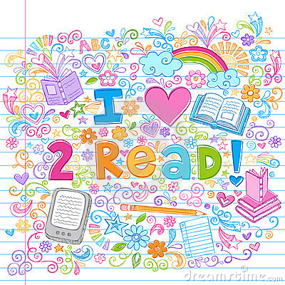 Free I Love To Read Sketchy Back To School Doodles Royalty Free Stock Images - 21147039