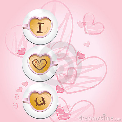 I love u - coffee