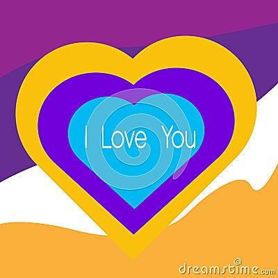 I love u heart Stock Photo