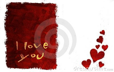 I love you card (horizontal)