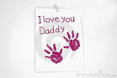 I love you daddy note