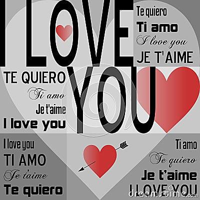 I Love You [Gray]