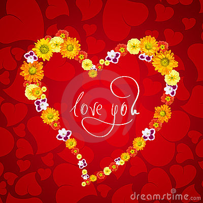 Love Flower Picture on Love You  Heart From Flowers Royalty Free Stock Photos   Image