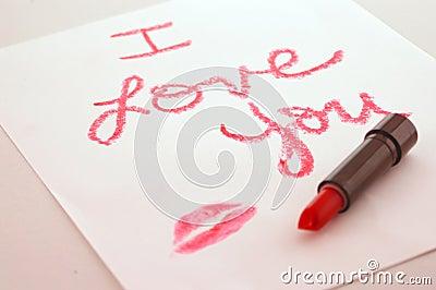 I love you lipstick