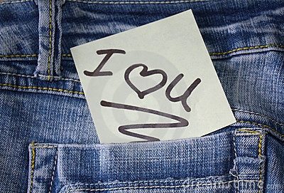 I love you note with a  heart