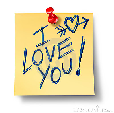 I love you office note affection feelings of valen
