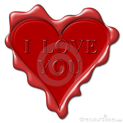 I love you - red wax seal