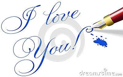 I love You romantic Valentine pen words