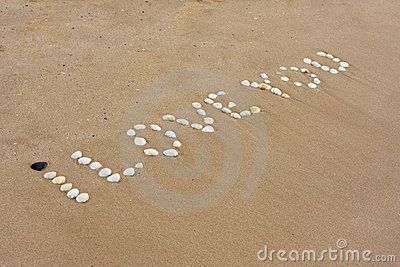 I Love You In Sand Stock Images - Image: 12102744