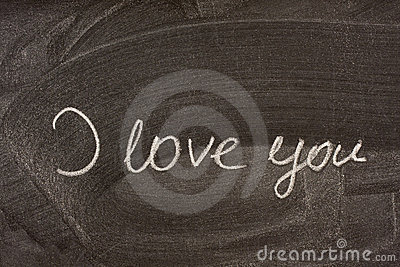I Love You On School Blackboard Royalty Free Stock Photo - Image: 7244435