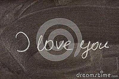 I love you on school blackboard