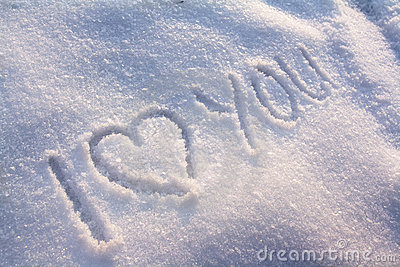 I Love You Snow Stock Photography Image 12432522