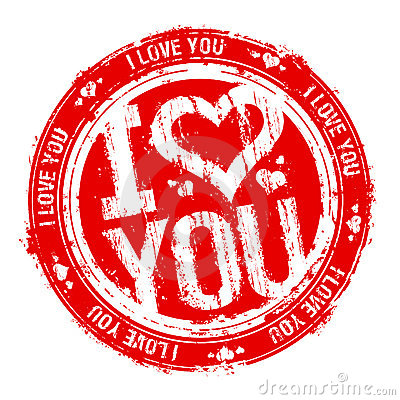 I love you stamp.