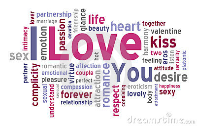 I Love You Word Cloud Vector Illustration