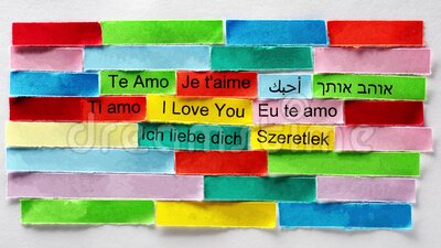I Love You Word Cloud printed on colorful paper stock video