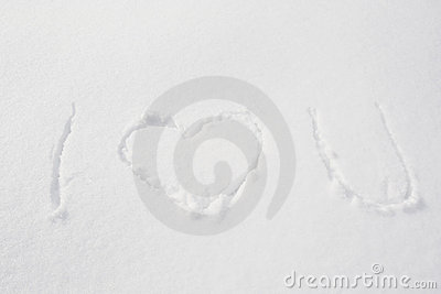 I Love You written in Snow