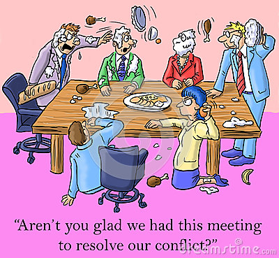Free I M Glad We Had This Meeting To Resolve Conflict Royalty Free Stock Photos - 27741268