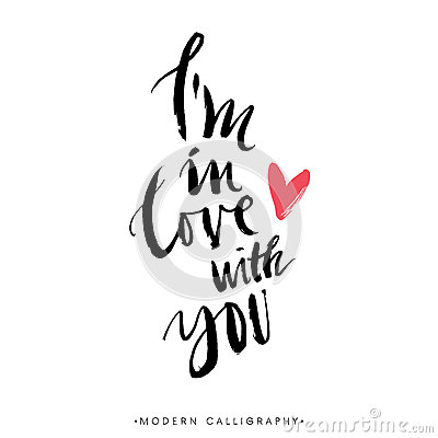 Free I M In Love With You. Modern Brush Calligraphy. Royalty Free Stock Photos - 59821398